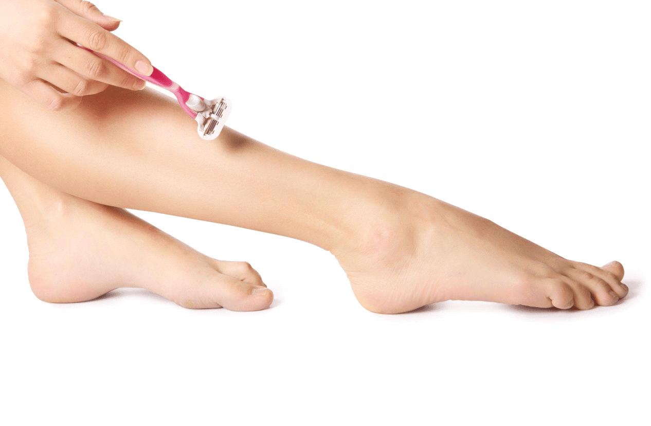 شیو کردن پاها قبل از لیزر